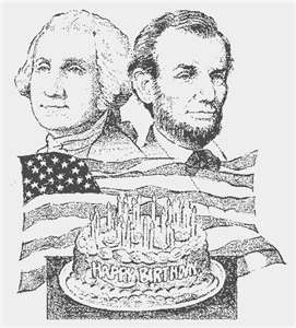 George Washington and Arbraham Lincoln